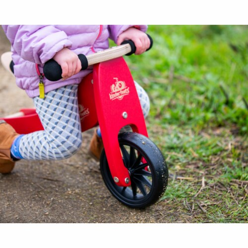 Kinderfeets Tiny Tot Toddler 2-in-1 Balance Bike and Tricycle, Cherry Red Perspective: top