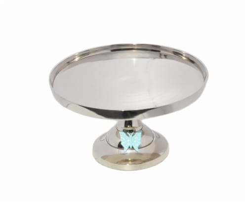 Vibhsa Cake Stand with Turquoise Butterfly Perspective: top