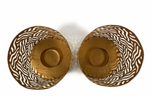 Vibhsa Votive Candle Holders 2 Pack - Brass Perspective: top