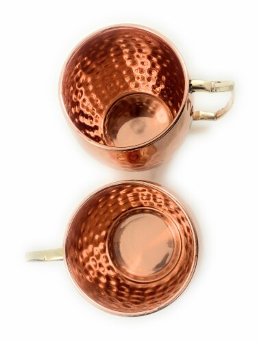 Vibhsa handcrafted Moscow Mule Mugs 2 Pack - Copper Perspective: top