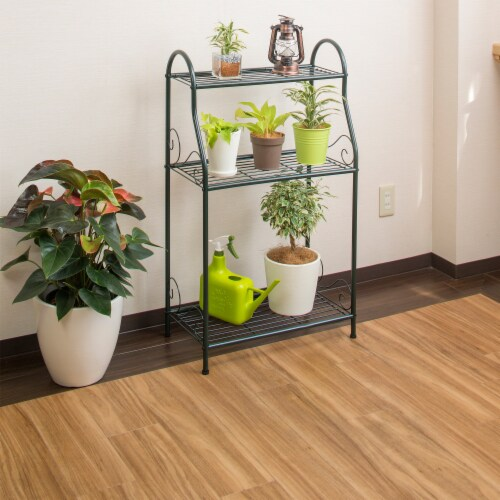 Plant stand 3 shelf Perspective: top