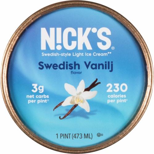Nick's Swedish Vanilj Light Ice Cream Perspective: top