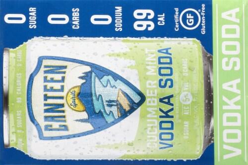 CANTEEN Spirits Cucumber Mint Vodka Soda Perspective: top
