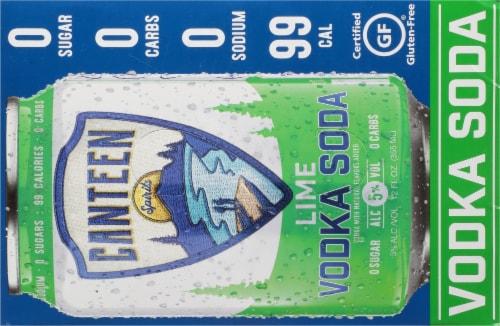CANTEEN Spirits Lime Vodka Soda Perspective: top