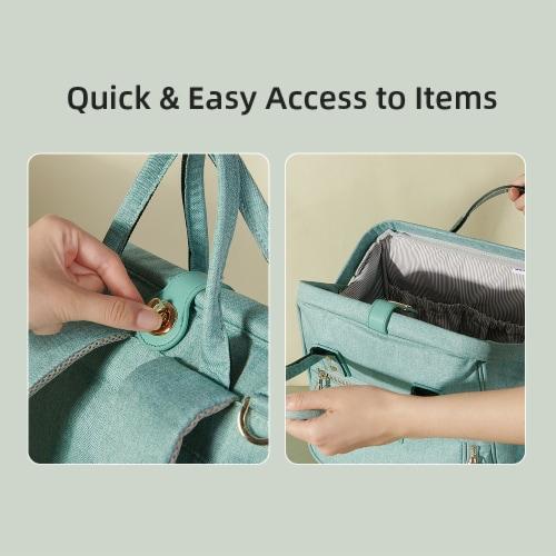 Easy Open Diaper Backpack Perspective: top