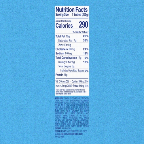 Cali'flour Foods Chicken Enchilada Bake Perspective: top
