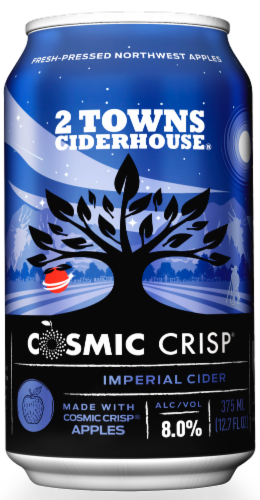 2 Towns Ciderhouse Cosmic Crisp® Imperial Cider Perspective: top