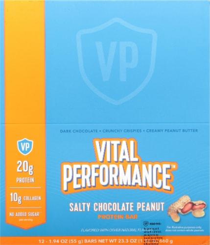 Vital Performance Salty Chocolate Peanut Protein Bars Perspective: top