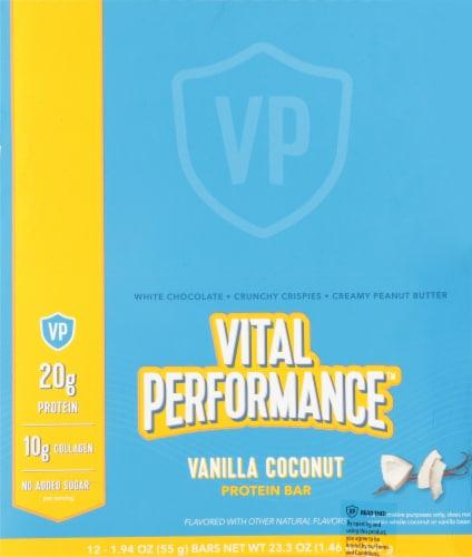 Vital Performance™ Vanilla Coconut Protein Bars Perspective: top