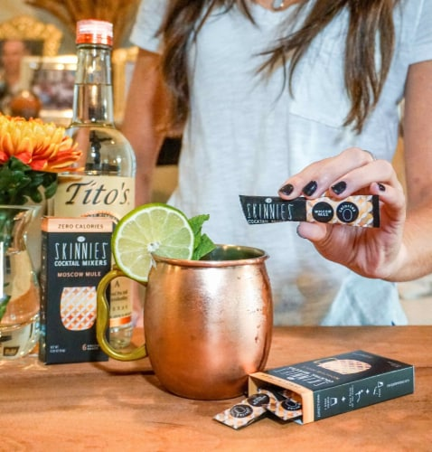 RSVP Skinnies Moscow Mule Cocktail Mixers (4 Pack) Perspective: top
