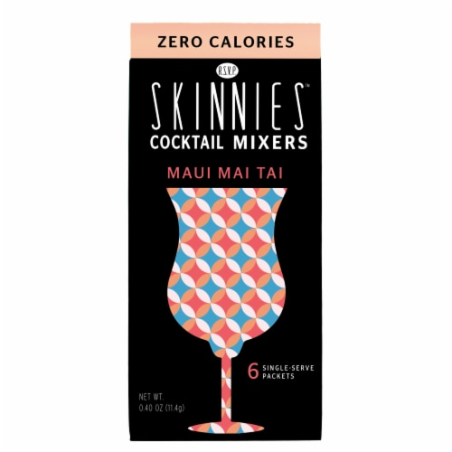 RSVP Skinnies Maui Mai Tai Cocktail Mixers (4 Pack) Perspective: top