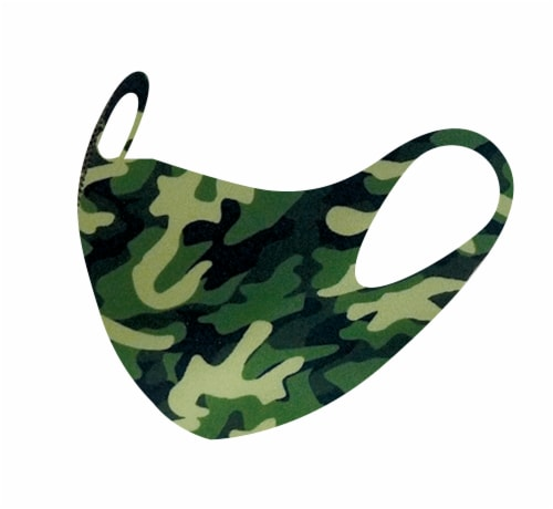 Drylock Large American Flag Camo & Paisley Fashion Masks Perspective: top