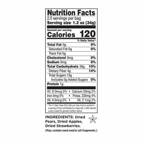 RIND Snacks Straw-Peary Dried Fruit Superfood - 3oz Bags, 3 Bags Total Perspective: top
