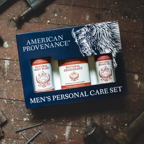 Natural Men's Gift Set; Beard Oil - Fastballs & Fisticuffs Perspective: top
