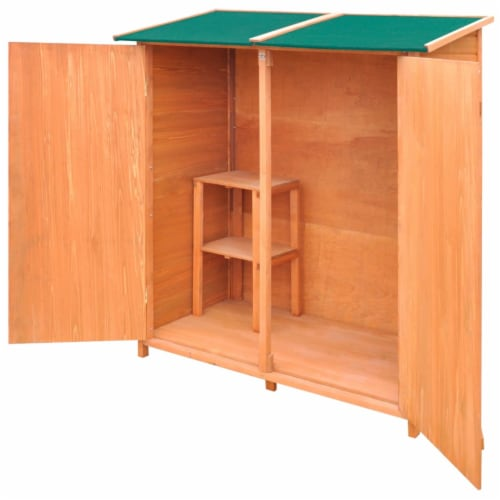 Wooden Shed Garden Tool Shed Storage Room Large Perspective: top