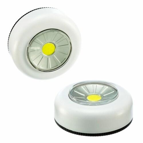2PCS COB LED Night Light Push Stick On Wireless Closet Cordless Battery Operated Perspective: top