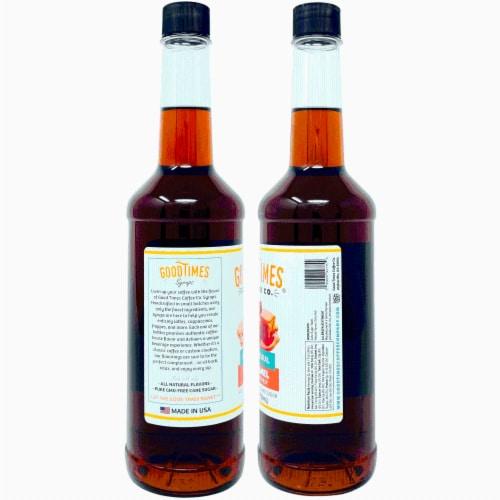 Vanilla and Caramel Syrup Variety Pack - All Natural, Vegan, Gluten-Free, Non-GMO Cane Sugar Perspective: top