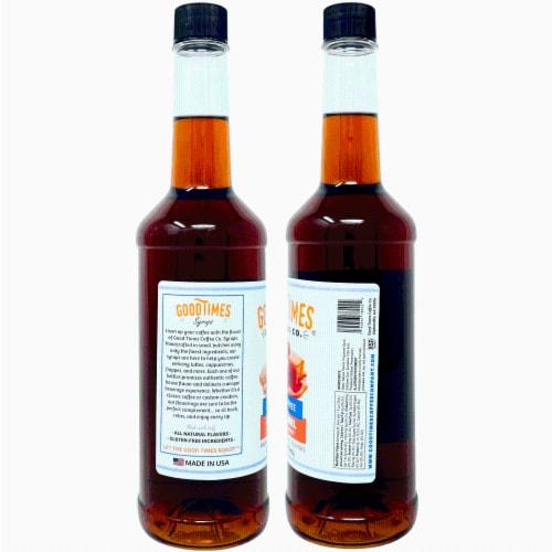 Sugar Free Vanilla and Caramel Syrup Variety Pack - Natural Flavor, Vegan, Gluten-Free Perspective: top