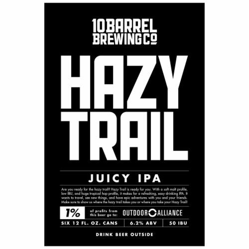 10 Barrel Brewing Hazy Trail Juicy IPA Perspective: top
