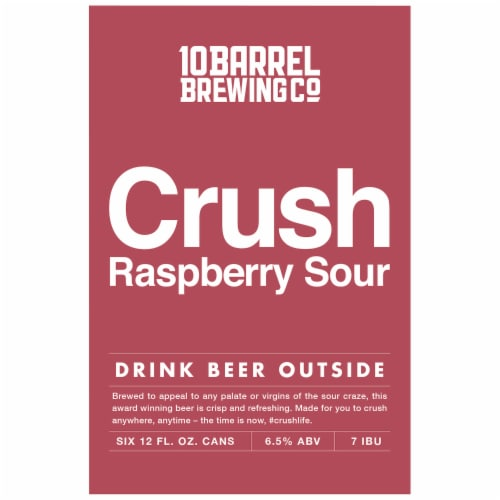10 Barrel Brewing Crush Raspberry Sour Perspective: top
