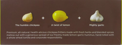 Tadah! Lemony Roasted Garlic Hummus Falafel Wrap Perspective: top