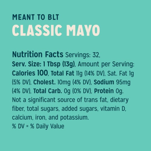 Sir Kensington's Sunflower Oil Classic Mayonnaise Perspective: top