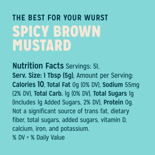 Sir Kensington's Spicy Brown Mustard Perspective: top