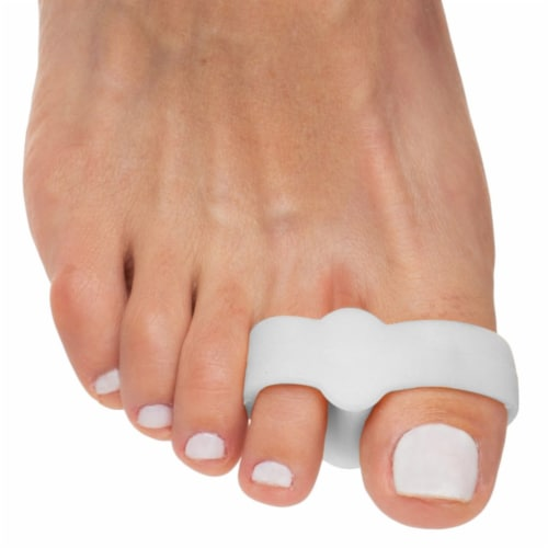 ZenToes Toe Separators with 2 Loops - Pack of 4 Soft Gel Bunion Correctors (White) Perspective: top