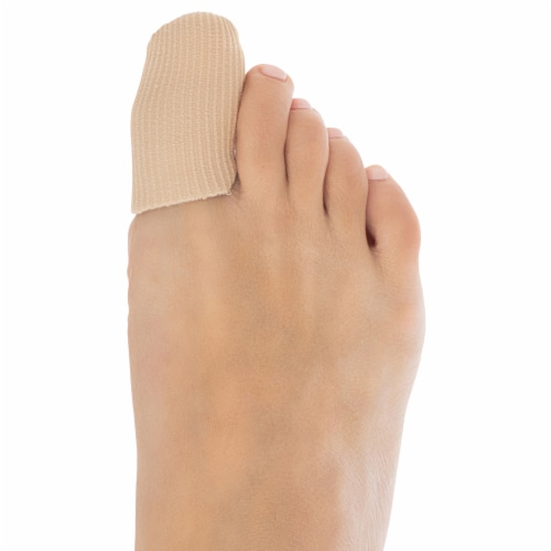 ZenToes Toe Caps Closed Toe Fabric Sleeve Protectors with Gel Lining - 5 Pack (Size Large) Perspective: top