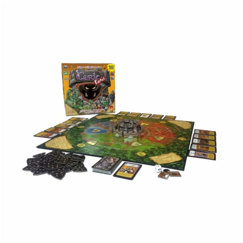Fireside Games Castle Panic Board Game Perspective: top