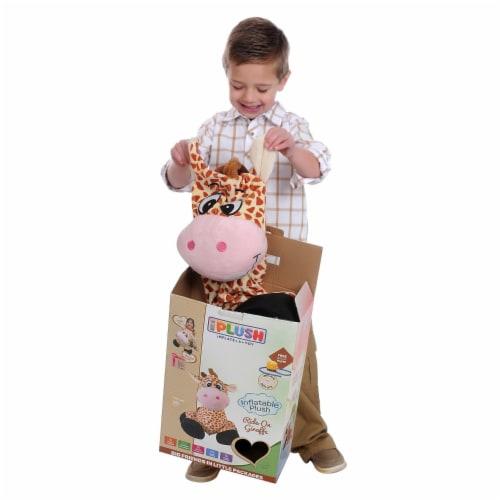 "iPlush 26"" Inflatable Giraffe Stuffed Animal Perspective: top"