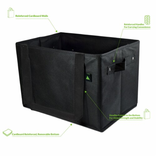 Reusable Grocery Box Bags, Collapsible Bins, Foldable Storage, Large Utility Totes Perspective: top
