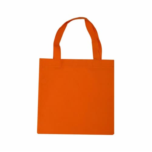 6x6 Inch Flat Reusable Gift Bags with Handles, Eco Friendly Totes, Fabric Goodie Bags Perspective: top