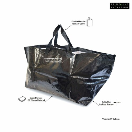 Prime Line Packaging Large Tote Bags for Carrying Bulk Items, Storage Shopping Bags Perspective: top