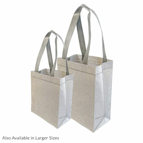Prime Line Packaging Reusable Glitter Gift Bag with Handles Perspective: top
