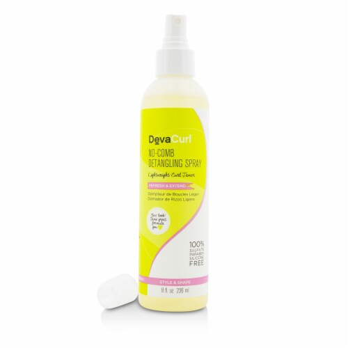 DevaCurl NoComb Detangling Spray (Lightweight Curl Tamer  Refresh & Extend) 236ml/8oz Perspective: top