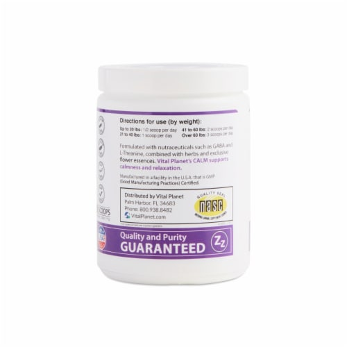 Vital Planet Calm Relaxing Herbal Powder Beef Flavored, 3.92 Ounces Perspective: top