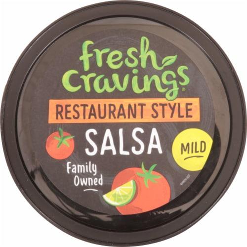 Fresh Cravings Restaurant Style Mild Salsa Perspective: top