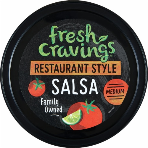 Fresh Cravings Restaurant Style Medium Salsa Perspective: top