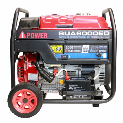 A-iPower SUA6000ED 6000W Portable Gas & Propane Powered Generator w/ 4 Gal Tank Perspective: top