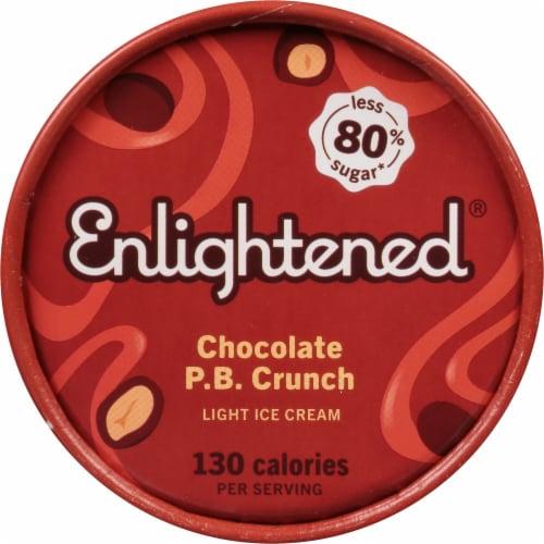 Enlightened Chocolate Peanut Butter Light Ice Cream Perspective: top