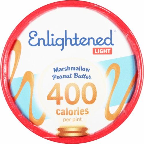 Enlightened Light Marshmellow Peanut Butter Ice Cream Perspective: top