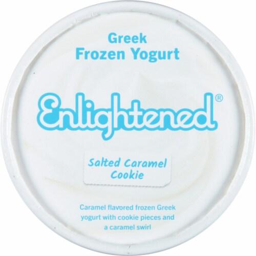 Enlightened Sea Salt Caramel Ice Cream Perspective: top