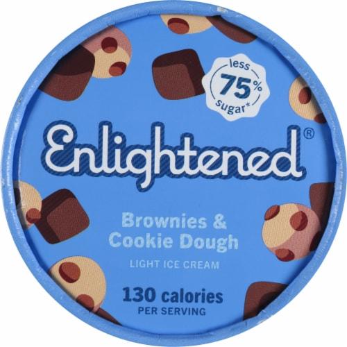 Enlightened Brownies & Cookie Dough Light Ice Cream Perspective: top