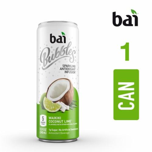 Bai Bubbles Waikiki Coconut Lime Sparkling Beverage Perspective: top