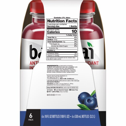 Bai Brasilia Blueberry Antioxidant Infused Beverages Perspective: top