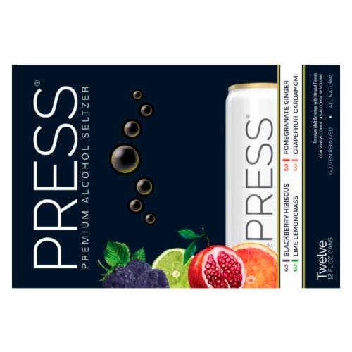 PRESS Hard Seltzers Variety Pack Perspective: top