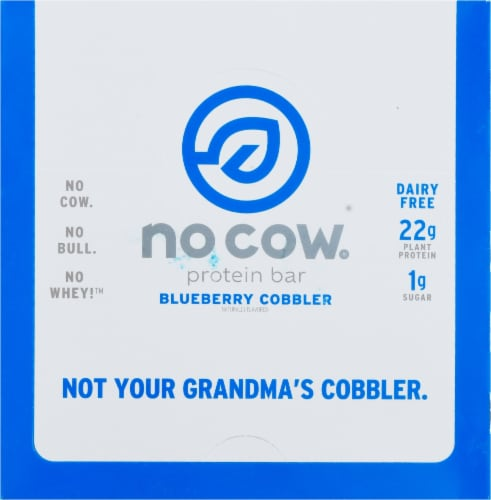 no cow® Dairy Free Blueberry Cobbler Protein Bars Perspective: top