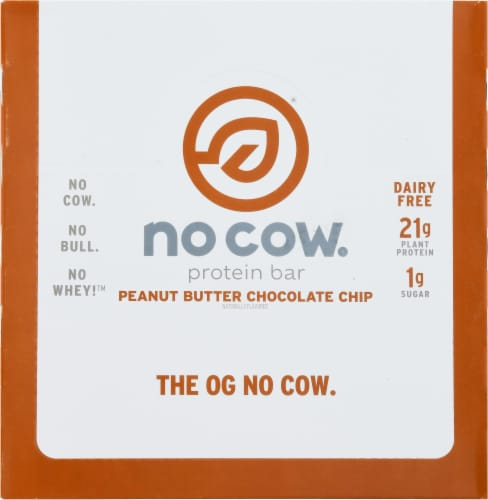 no cow® Peanut Butter Chocolate Chip Protein Bars Perspective: top