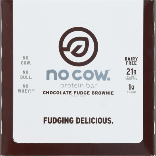 no cow® Dairy Free Chocolate Fudge Brownie Protein Bars Perspective: top